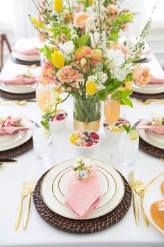 How to set the table for a Mothers day Brunch