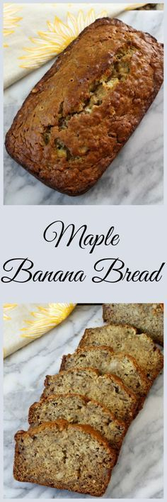Maple Banana Bread - A soft, moist classic banana bread with just a hint of maple flavoring.