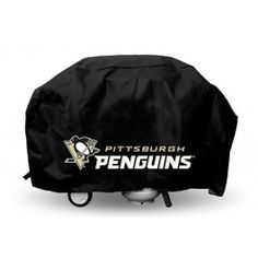 Rico Industries/Tag Express X Black Vinyl Pittsburgh Penguins Universal Grill Cover 177677 Bbq Grill, Barbecue, Grilling, Nhl Pittsburgh Penguins, Industrial, Cover, Black, Bar Grill, Barrel Smoker