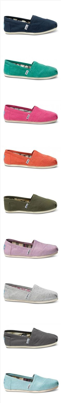 Love Toms! So comfortable for work and perfect for the weekends. It would be fun to incorporate some colors into my wardrobe.
