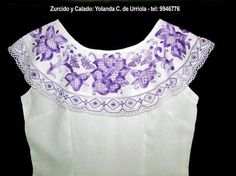 Hand Embroidery, Embroidery Designs, Sewing Blouses, Crochet Collar, Crochet Fashion, Summer Tops, Sewing Patterns, Fashion Accessories, Couture