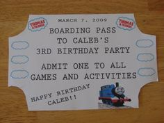 Caleb's Thomas the Train Birthday Party lots of clever train themed games