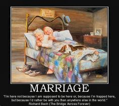 What marriage is all about! So sweet!