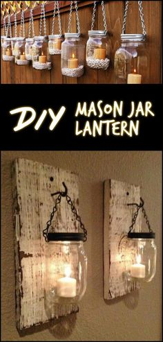 Lighting up Your Outdoor Space is Made Easier With These Handmade Mason Jar Lanterns