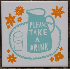 Another tile by artist Robert Ryan.  Some day it will be in my kooky kitchen.