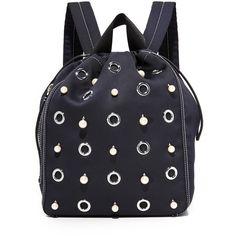 3.1 Phillip Lim Go Go Medium Knapsack (2,395 MYR) ❤ liked on Polyvore featuring bags, backpacks, phantom blue, 3.1 phillip lim backpack, rucksack bags, blue backpack, knapsack bag and blue bag