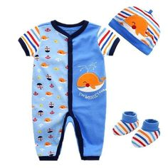 3abf29e34e2 2018 Newborn Baby Boy Clothing Set Unisex Clothes Set Cotton O-Neck  Longdresskily. Boys Summer ...