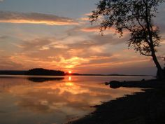 Midnight sun in Finland