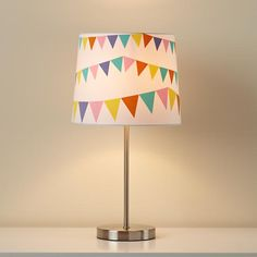 Kids' Lighting: Kids' Nickel Table Lamp and Pennant Shade in Lighting | The Land of Nod