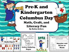 Columbus Day Activities: Classroom Columbus Lessons Columbus Day printable activities-- perfect for the last minute. Columbus Day, Kindergarten Social Studies, Kindergarten Classroom, Kindergarten Activities, Classroom Activities, Preschool Themes, Classroom Ideas, Math Crafts, Kids Crafts