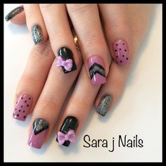 Pink and black Acrylic design