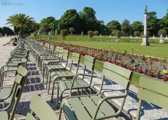 Pictured Within Luxembourg Gardens, Paris, Where There Are images ideas from Home Inteior Ideas Luxembourg Gardens, Public Garden, Outdoor Furniture Sets, Outdoor Decor, Amazing Gardens, The Row, Dolores Park, Walkways, Travel