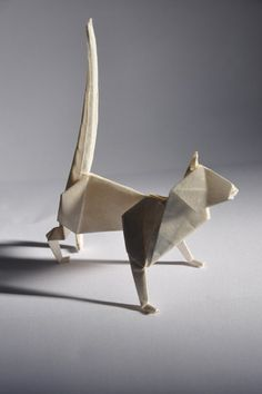 origami jewellery – Les Animaux, Chat/Cat. Original Design by Thierry Testa | ©Thierry Testa