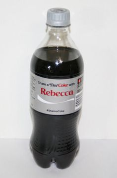 Share a Coke Bottle REBECCA Diet Coca Cola 20 Oz.Ounce 2014 Limited Edition  in Collectibles, Advertising, Soda, Coca-Cola, Bottles | eBay