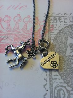 Daughter charm necklace  by AdornedWithGrace, $12.00