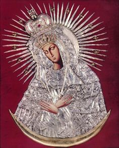 A copy of the miraculous icon of Our Lady of Ostra Brama in Vilnius, Lithuania.      via All about Mary.     Sep 1     51