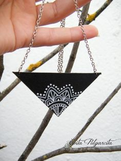 Zentangle hand painted leather jewelry