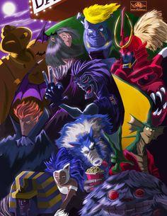 Capcom Fighter Tribute, Moe Murdock on ArtStation at https://www.artstation.com/artwork/capcom-fighter-tribute