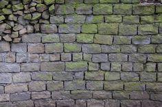 Brick Texture Rock Stone Algea Grey Green Uneven by TextureX-com on DeviantArt