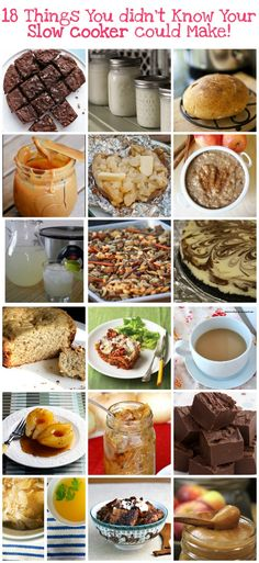 From Artisan bread to cheesecake, we've got 18 things you didn't know you could make with your slow cooker. All of these crockpot recipes are fabulous!