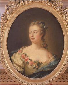 Potrait of Madame de Pompadour circa 1751-1755