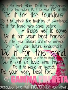 in love with this quote -- gamma phi till i dieee and after #sisterseternal