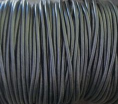3 YDS Charcoal Gray 2MM Leather Cord Fine by jewelrycatsupplies
