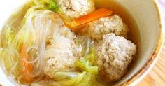 お豆腐入りのふわふわ肉団子とチュルチュル食感の春雨が美味しい組み合わせ。