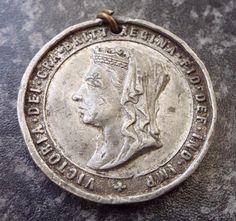 Antique Burton on Trent 1897 Queen Victoria Diamond Jubilee Medal Burton On Trent, Queen Victoria, Badges, Personalized Items, Diamond, Antiques, Ebay, Antiquities, Antique