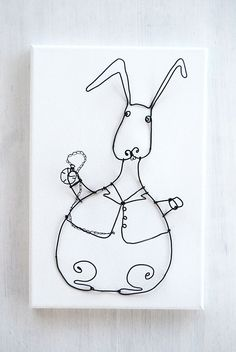 White rabbit by WireDreams on Etsy