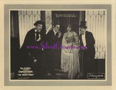 THE UNEASY THREE original lobby card #6, starring Charley Chase and Bull Montana (1925)!