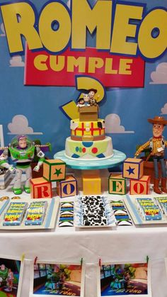 Toy Story birthday party dessert table! See more party planning ideas at CatchMyParty.com!