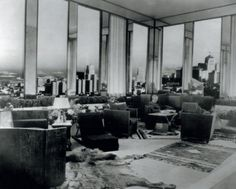 Jean Michel Frank designed sunroom for Templeton Crocker.