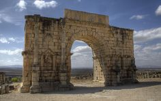 Arch of Caracalla at Volubilis – Morocco. See more at RomeAcrossEurope.com