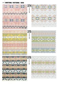 Книга 1000 узоров — Yandex.Disk Fair Isle Knitting Patterns, Knitting Charts, Lace Knitting, Knitting Stitches, Knitting Designs, Motif Fair Isle, Fair Isle Chart, Lace Patterns, Stitch Patterns