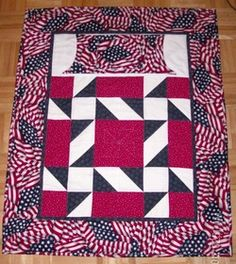 Patriotic Lap Quilt for wheelchairs
