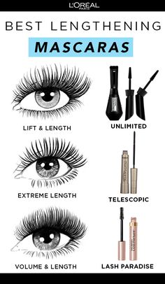 Customize your lash look with the NEW L'Oréal Paris Unlimited Lash Lifting and Lengthening Washable Mascara! Use brush straight to stretch and lengthen or bent to lift lashes from root to tip and access hard-to-reach corner and bottom lashes. Also try Telescopic Mascara for extreme length and Lash Paradise Mascara for volume & length!