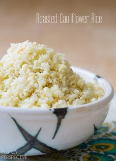 Roasted Cauliflower Rice! #GrainFree #Paleo #GlutenFree #cauliflower