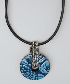 Take a look at this Blue Cordova Pendant Necklace by Treska on #zulily today!