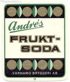Old Swedish fruit soda label Vintage Graphic Design, Vintage Type, Retro Design, Vintage Designs, Typography Letters, Typography Poster, Graphic Design Typography, Graphic Design Illustration, Vintage Packaging