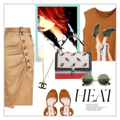 """Heat"" by frenchfriesblackmg ❤ liked on Polyvore featuring Miu Miu, self-portrait and Fendi"