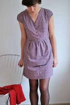 La robe Marie du livre Un été couture, cousue par l'annexe Dilettante.