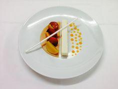 Parfait glacé aux fruits du verger Food Decoration, Food Plating, Food Design, Food Art, Plates, Tableware, Licence Plates, Dishes, Dinnerware