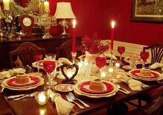 Decoração para um jantar romântico