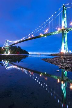Lions Gate Bridge, Vancouver, Canada Canvas Print / Canvas Art by David Nunuk