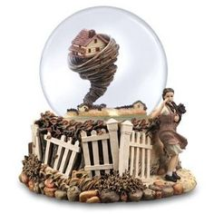Wizard Of Oz Water Globe Rotating Tornado Dorothy Toto Music Box Glass Orb Toto Music, Over The Rainbow, Wizard Of Oz Tornado, Musical Snow Globes, Box Company, I Love Snow, Water Globes, Judy Garland, Crystal Ball