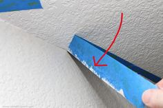 Home Improvement: Painting a Straight Line on Textured Walls (a Pro Painter's Secret) | Make It and Love It
