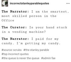 Some text post screenshots I took because I can't pin the link on here. Stanley Parable, I Only Want You, Some Text, Text Posts, Guy, Fandoms, Games, Link, Quotes