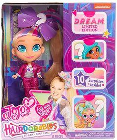 4pcs JoJo Siwa Hair Styling DOLL with comb and 2x Bows Hair Doll Jojo Siwa Toy
