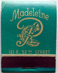 Madeline #matchbook - To design & order your business' own logo #matches GoTo: GetMatches.com #phillumeny